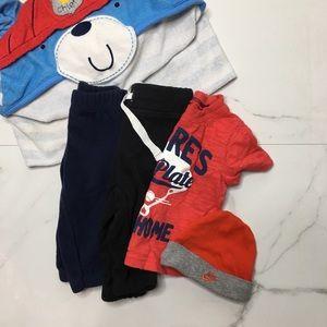 🎉Bundle baby boy bottoms top bath towel B6-29